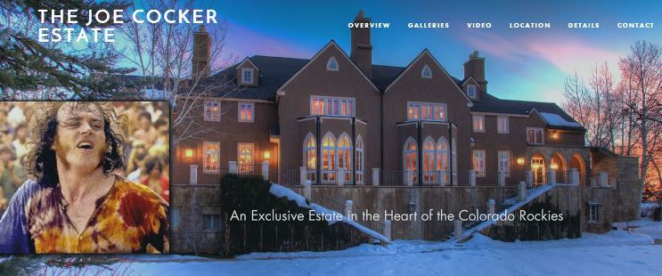 Proud to be the voice talent for the Joe Cocker Estate virtual tour