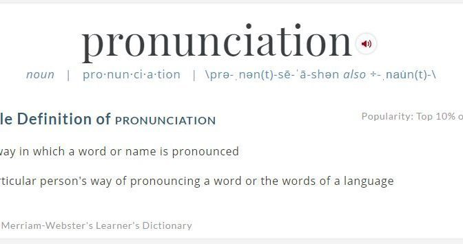 pronunciation image from dictionary