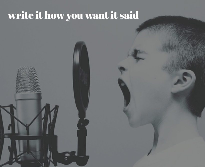 Write it how you want it said when writing a voiceover script